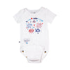 "EZ-On BaBeez™ ""Let's Celebrate"" Short Sleeve Bodysuit - White"