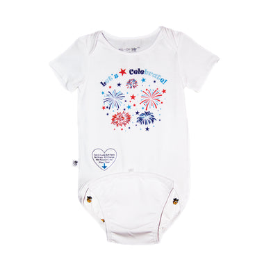 EZ-On BaBeez™ - Spring & Summer - Let's Celebrate - on White - Baby Bodysuit