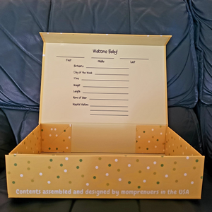 "My Tot Box™ - Box #2: Baby Tot, with ""Keepsake Memory Box"", for infants ages 3-9 months"