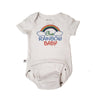 "EZ-On BaBeez™ ""Our Rainbow Baby"" Short Sleeve Bodysuit - White"
