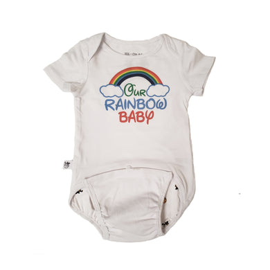 EZ-On BaBeez™ - Spring & Summer - Rainbow on White, Baby Bodysuit