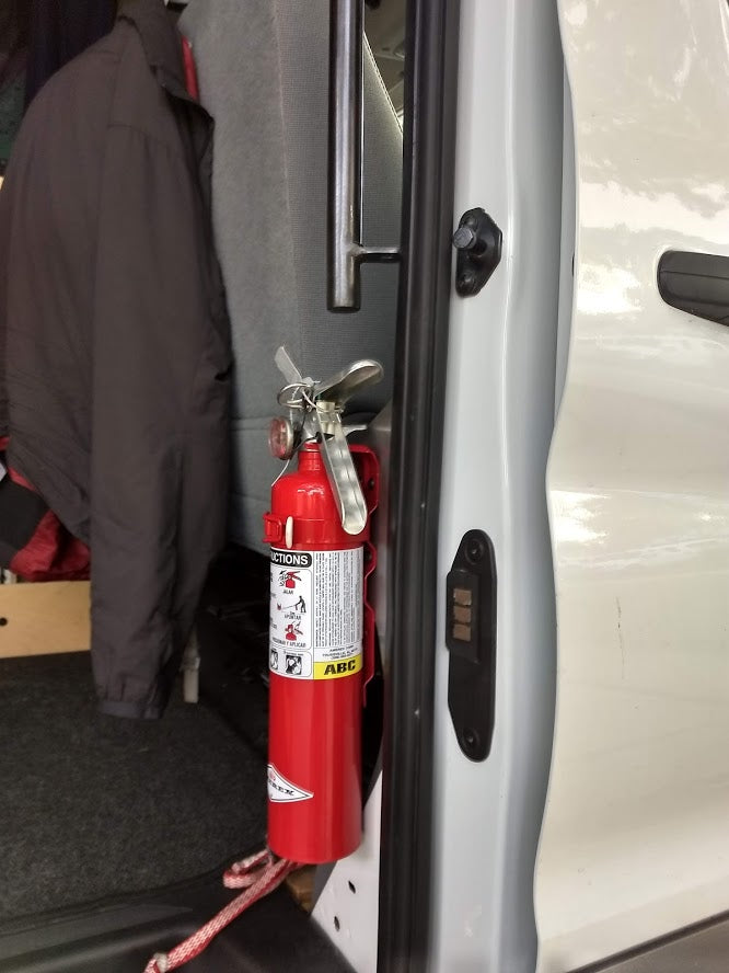 Coming Soon! Ford Transit Fire Extinguisher Bracket
