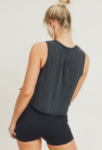 In A Pinch Crop Tank - Black