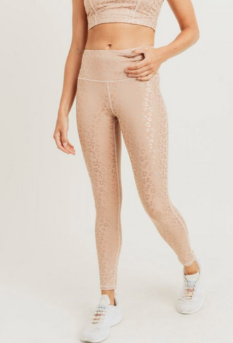 Glow Up Foil Leopard Legging