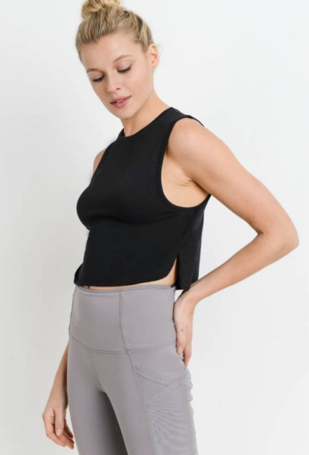 Side Slit Crop Tank