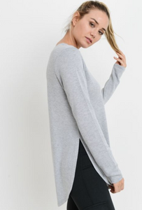 Side Slit Long Sleeve