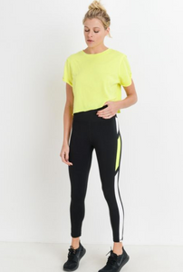Neon Stripe Legging