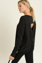 Load image into Gallery viewer, Twist Back Long Sleeve Tee