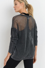Load image into Gallery viewer, Mesh Long Sleeve Pullover