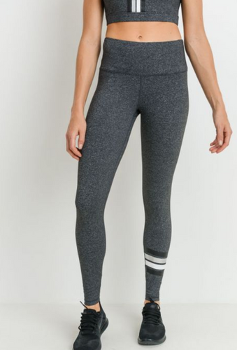 Silver Stripe Legging