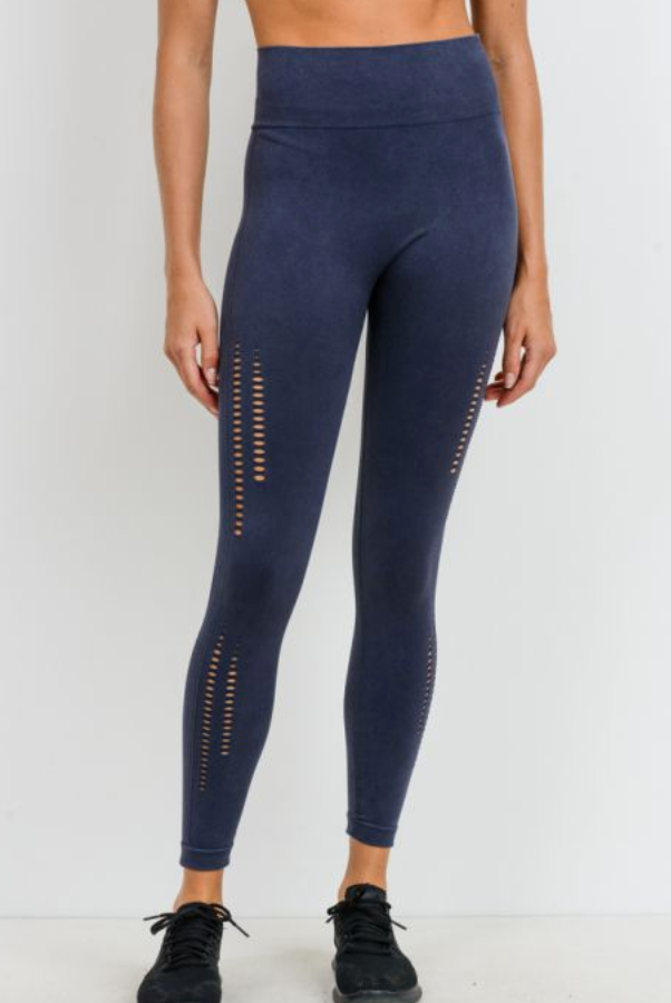 Deep Blue Seamless Legging
