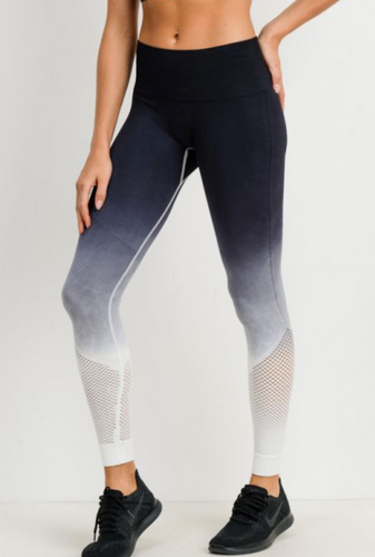 Ombre Seamless Fishnet Legging