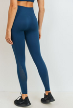 Load image into Gallery viewer, Two Tone Teal Seamless Legging