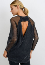 Load image into Gallery viewer, Gray Open Back Mesh Long Sleeve