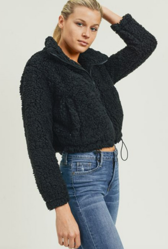 Crop Faux Fur Jacket