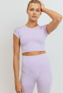 Mineral Wash Seamless Crop Top