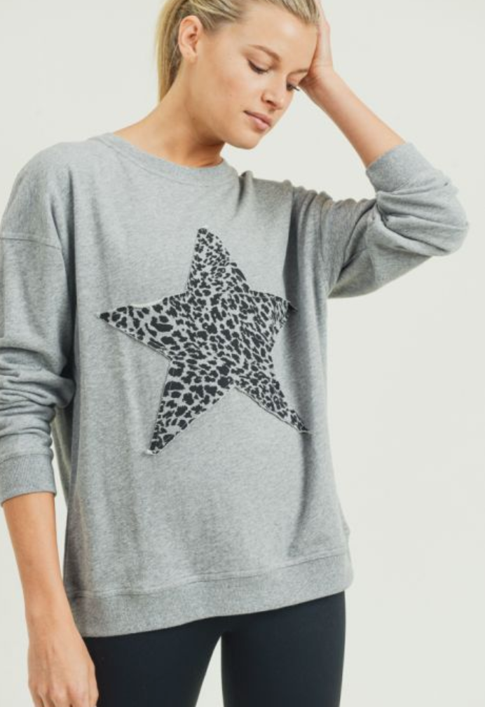 Cheetah Star Terry Pullover