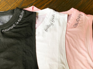 Custom Embroidery Crop Tanks