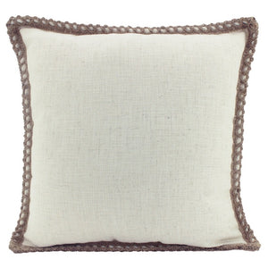 Jute Linen Cushion Beige