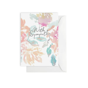 Watercolour Sympathy Card