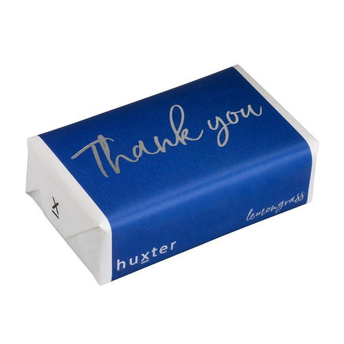 Thank You Navy w Silver Foil Soap