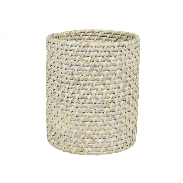 Bay Rattan Utensil Holder