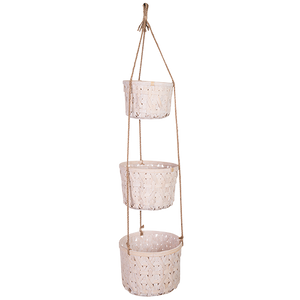 White 3 Tier Hanging Basket
