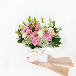 Blushing Box Arrangment