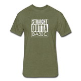 Straight Outta Basic - heather military green