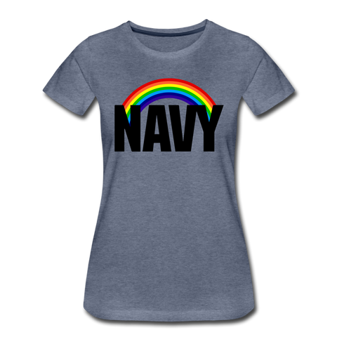 NAVY PRIDE WOMENS - heather blue