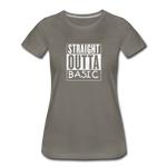 STRAIGHT OUTTA BASIC WOMENS - asphalt gray