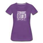 STRAIGHT OUTTA BASIC WOMENS - purple