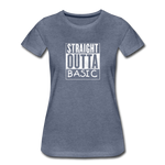 STRAIGHT OUTTA BASIC WOMENS - heather blue