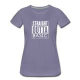 STRAIGHT OUTTA BASIC WOMENS - washed violet