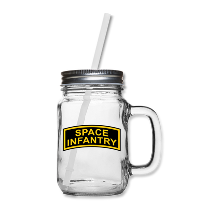 SAPCE INFANTRY MASON JAR - clear