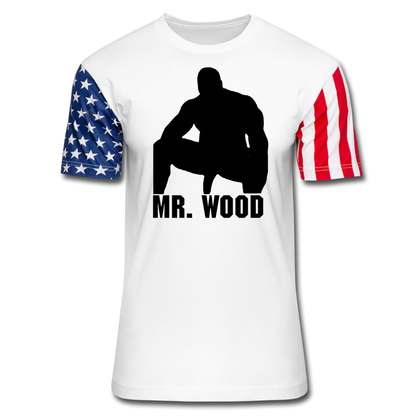 MR WOOD STARS AND STRIPES - white