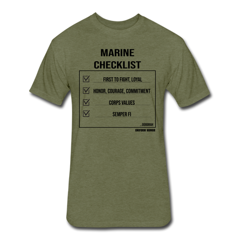 MARINE CHECKLIST - heather military green