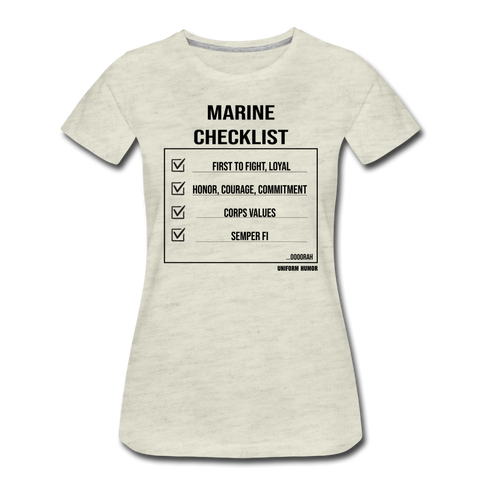 MARINE CHECKLIST WOMANS - heather oatmeal