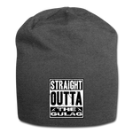 STRAIGHT OUTTA THE GULAG BEANIE - charcoal gray