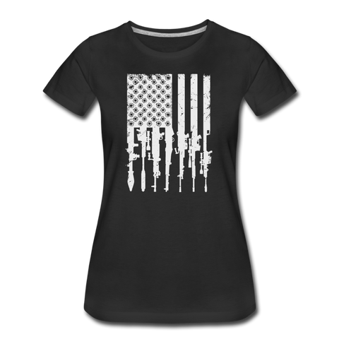 GUN FLAG WOMENS - black
