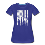 GUN FLAG WOMENS - royal blue