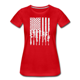 GUN FLAG WOMENS - red