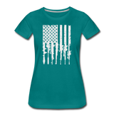 GUN FLAG WOMENS - teal