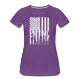 GUN FLAG WOMENS - purple