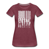 GUN FLAG WOMENS - heather burgundy