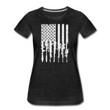 GUN FLAG WOMENS - charcoal gray