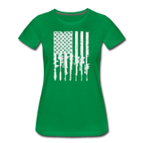GUN FLAG WOMENS - kelly green