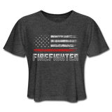 FIREFIGHTER CROP TOP - deep heather