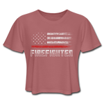 FIREFIGHTER CROP TOP - mauve