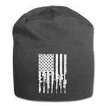 GUN FLAG BEANIE - charcoal gray